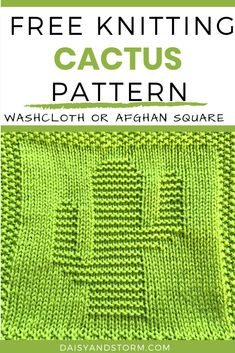 Knitted Dishcloth Patterns Free, Knitted Washcloths, Knit Dishcloth, Knitting Patterns Free, Knitting Squares, Patchwork Blanket, Knitting Projects, Knitting Ideas, Square Patterns