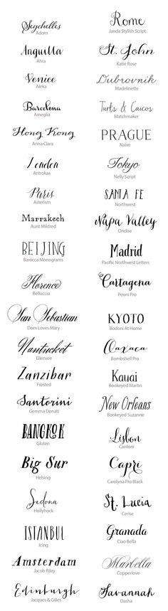 Best Calligraphy - Hand Lettered Fonts http://snippetandink.com/best-hand-lettered-fonts-for-weddings-50-handwritten-fonts/