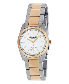 Kenneth Cole New York Watch, Women's Two Tone Stainless Steel Bracelet 28mm KC4826 - Rose Gold Watches - Jewelry & Watches - Macy's