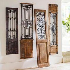 Lyon Gate Artwork Design Toscano, Door Design, House Design, Design Design, Interior Design, Wrought Iron Decor, Rod Iron Decor, Wrought Iron Gates, Tuscan House