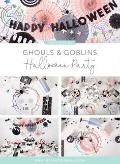 ghouls and goblins halloween party ideas Halloween First Birthday, Pumpkin Birthday Parties, Pink Halloween, Fairy Halloween Costumes, Adult Halloween Party, Halloween Themes, Halloween Crafts, Halloween Decorations, Halloween Tricks
