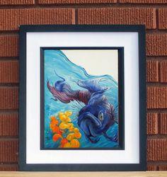 betta fish painting