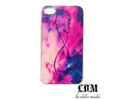 An iphone 4/4s infinity, love, tie die case! A must have! <3