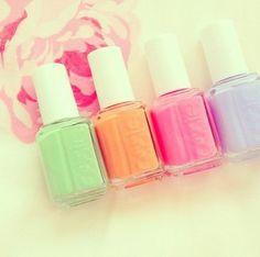 Pastel colors by Essie