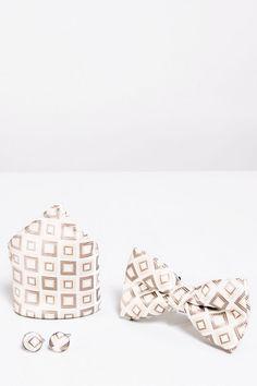 Luxury Light Oak Herringbone Check Pocket Square Handkerchief Tweed