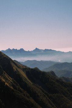 Foresta Alta Val Parma - I Lagoni Tramonto sul crinale