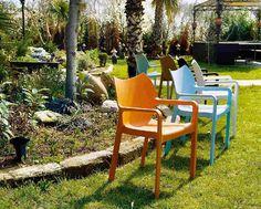 Stuhl DIVA Kunststoff grün