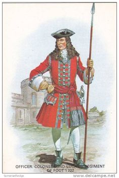 British; Lord Lucas's Regiment of Foot, Colonel. 1702 by Charles C Stadden