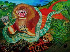 ligabue pittore tigre - Cerca con Google