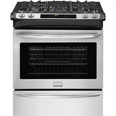 Frigidaire FGGS3065PF Gallery 30-in 4-Burner 4.5-cu ft Slide-in Convection Gas Range (Smudge-Proof Stainless Steel)