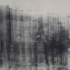 "Artist: A. Nigh Herndon  Title: Untitled Every Night  Dimensions: 36"" x 36"" x 1.5""  Medium: graphite x enamel on unprimed canvas  Framed  2016"