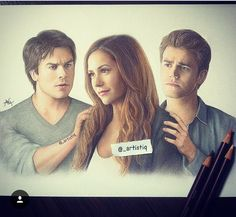 Image de elena, damon, and draw