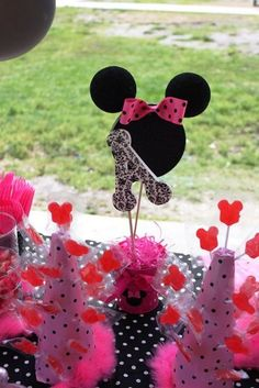 """styrofoam centerpieces party decorations   ... 27: Minnie Mouse / Birthday """"Ashlee's 2nd Birthday!!""""   Catch My Party"""