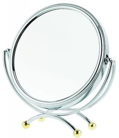 Danielle Creations 10x Low Profile Two Toned Vanity Makeup Mirrors UCD821   seattleluxe.com