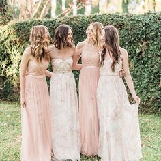 Floral bridesmaid dresses - 2016 Jenny Yoo Collection Bridal and Bridesmaid – Floral bridesmaid dresses Spring Bridesmaid Dresses, Wedding Bridesmaids, Wedding Dresses, Floral Bridesmaids, Patterned Bridesmaid Dresses, Floral Dress Wedding, Different Bridesmaid Dresses, Wedding Flowers, Printed Dresses