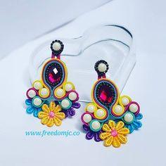 Soutache Earrings, Button Crafts, Shibori, Buttons, Instagram, Fashion, Create, Soutache Jewelry, Fashion Jewelry