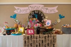 Cinderella  princess birthday party dessert table! See more party planning ideas at CatchMyParty.com!