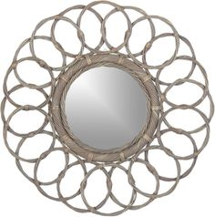 Frisco Mirror - another good DIY project...would be pretty with wicker or other natural materials
