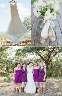 Cute idea to photograph the dress in front of the chairs. DIY southern rustic wedding -