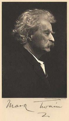 Mark Twain.  Samuel Clemens, Hannibal, Missouri.