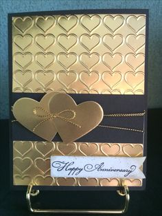 Handmade Anniversary Cards, 50th Anniversary Cards, 50th Birthday Cards, Wedding Cards Handmade, Scrapbooking, Scrapbook Cards, Valentine Day Cards, Holiday Cards, Engagement Cards
