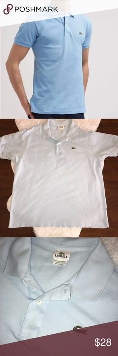 Lacoste Men's Classic Blue Polo sz XL. EUC light blue Lacoste Polo. Sz XL (6) but could also fit a L comfortably as well. No flaws. Lacoste Shirts Polos
