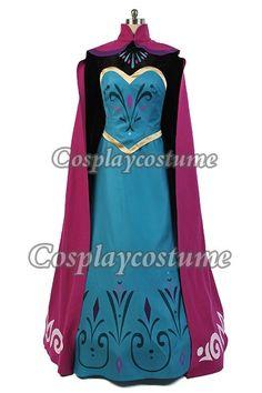 Disney Film Frozen Elsa's Coronation outfit Dress Cosplay Costume *Custom-made*