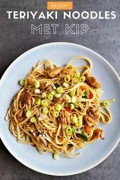 Recept   Teriyaki noodles met kip