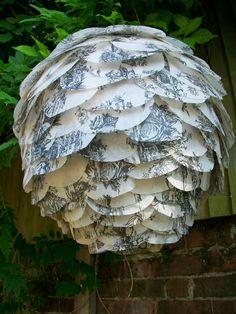 toile paper petal lantern