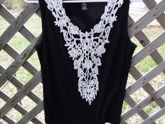 Gypsy Boho bohemian Tank top lace front by SummersBreeze on Etsy