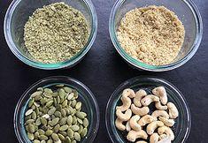 sanskeuken | het kaasverhaal parmesan van pompoenpitten en cashewnoten  vegan kaas