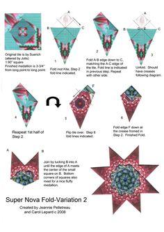 Teabag Fold Instructions - Super Nova Fold - Variation 2 Paper Folding Crafts, Paper Crafts, Hobbies And Crafts, Diy And Crafts, Ninja Star Origami, Modular Origami, Iris Folding, Card Making Tutorials, Origami Paper