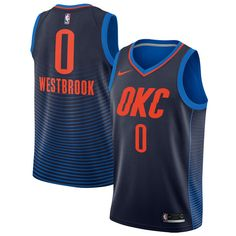 Men s Oklahoma City Thunder Russell Westbrook Nike Navy Swingman Jersey  Statement Edition 5c58eefc3