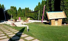 Natural playground with playhouse at Lake Balaton (Design and construction: Kreakert Ltd Hungary)