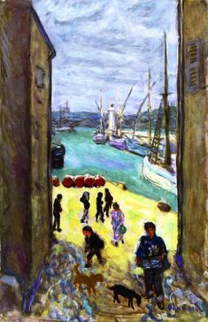 pierre bonnard(1867-1947), view of the port of saint-tropez, c. 1911. oil on canvas, 64.2 x 42 cm. private collection http://www.the-athenaeum.org/art/detail.php?ID=63237