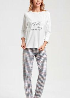 Lazy Pijama Takımı - EKRU Bloom Coffee, Dark Flowers, Mavis, Little Star, Superstar, Pajama Pants, Model, Fashion, Moda