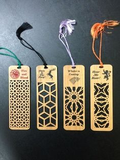 Game of Thrones bookmarks.