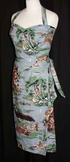 A personal favourite from my Etsy shop https://www.etsy.com/uk/listing/230871385/vintage-1950s-inspired-hawaiian-sarong