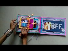 DIY handmade scrapbook for best friend - YouTube