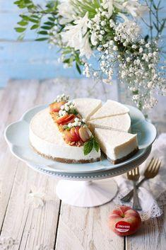 Cheesecake alle pesche e amaretti - Deliziosa Virtù