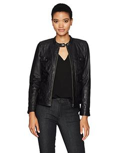 """Lucky Brand women's long sleeve fashion leather jacket with multiple pocket detail       Famous Words of Inspiration...""""When you have the facts on your side, argue the facts. When you have the law on your side, argue the law. When you have neither,...  More details at https://jackets-lovers.bestselleroutlets.com/ladies-coats-jackets-vests/casual-jackets/product-review-for-lucky-brand-womens-four-pocket-scuba-jacket/"""