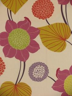 Bianca Bloom - www.BeautifulFabric.com - upholstery/drapery fabric - decorator/designer fabric