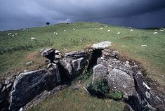 Lough Crew Megalithic Cairn with Passage Tomb - This passage tomb dates back to about 3,500-3,300 BC. It is found near the summit of Sliabh na Caillí, near County Meath, Ireland. This site is one of four main passage tomb sites in Ireland, the others being : Brú na Bóinne, Carrowkeel and Carrowmore
