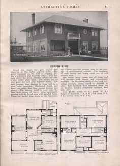 Design K 851 - from Attractive homes by Max L. Keith, Published 1912 192 p. ; ill., plans ; 26 cm. ; trade catalog