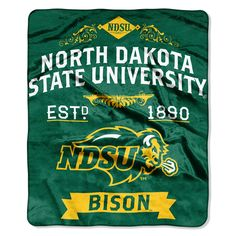 This is the softest, brightest, and plushest printed blanket on the planet! This luxurious North Dakota State Bison Royal Plush Raschel throw can be used at the game, on a picnic, in the bedroom, or cuddle under it in the den while watching the game. These blankets are extra warm and have superior durability. They are easy to care for, and are machine washable and dryable.  Our 50x60 North Dakota State Bison raschel throw is plush, with vibrant colors.  Your team's colors as a background…
