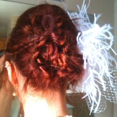 Alisha's hair for her wedding.