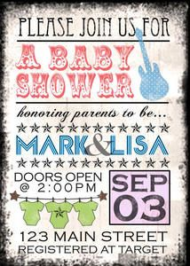 Custom Concert Rock Star Baby Shower or Birthday Party Invitations Boy or Girl | eBay