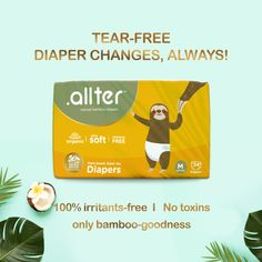 Cranky baby fits? 😩 Discomfort? And oh-the-horror rashes? Nah-mommies, you don't have to worry about any of these! Coz' our 💁🏻#Allter Bamboo-based diapers are made free of any nasties or chemical baddies. So let your baby try now, and cry never. Bamboo Diapers, Newborn Diapers, Free Diapers, Free Base, Disposable Diapers, No Worries, Good Things, Let It Be, Baddies