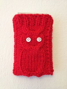 RED Knitted Owl Cell Phone Case Android Case iPhone by StyleCase, $15.00