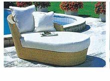 balancín, aluminio marco de la cama de sol, muebles de mimbre al aire libre al…